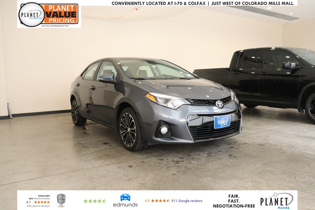 Pre-Owned 2015 Toyota Corolla S Plus FWD 4D Sedan